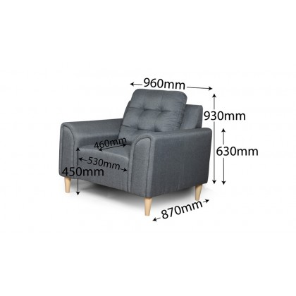 1+3 Seater Sofa (S3145) with USB Port | Water Repellent Fabric (Delivery by Own Logistic)