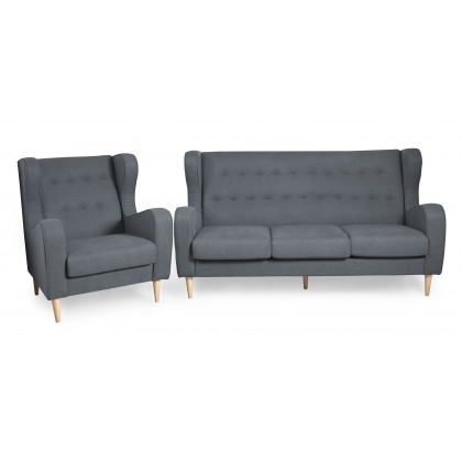 1+3 Seater Fabric Sofa (3149) Ready Stock (Delivery by Own Logistic)