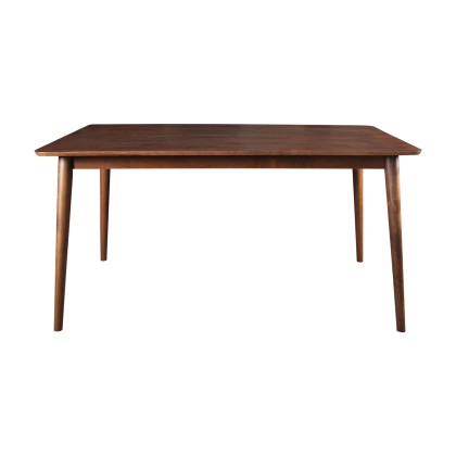 5ft Wood Dining Table Set 6 Seater (WDT01) Set Meja Makan Kayu 6 Kerusi (Included Installation)