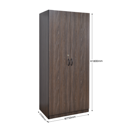 2 Door Wardrobe with lock | Fully Assembled | Delivery by Own Logistic