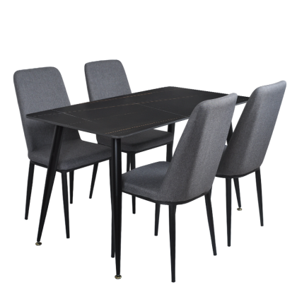 4.5ft Dining Table Set 4 Seater (11264-DT) Set Meja Makan 4 Kerusi (Included Installation)