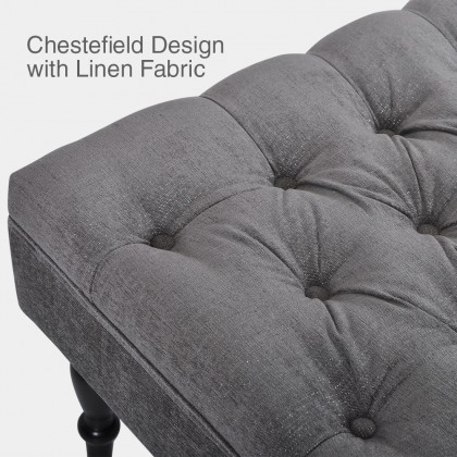 Chestefield Royale Design Bench | Water Repellent Fabric | Ready Stock (Delivery by Own Logistic)