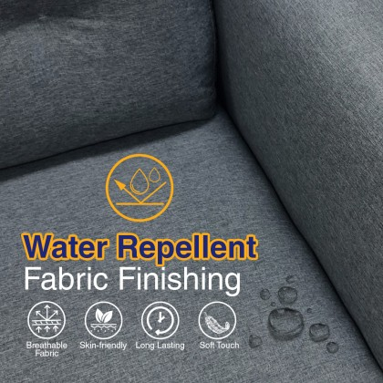 3 Seater Fabric Sofa (S3159) with USB Port   Water Repellent Fabric   Ready Stock (Delivery by Own Logistic)